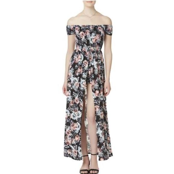 1e0fe7a91aa8 Flower Maxi Dress Romper